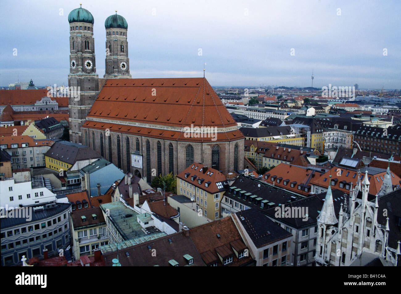 geography / travel, Germany, Bavarians, Munich, churches, church of our lady, St Mary, cathedral, - Stock Image