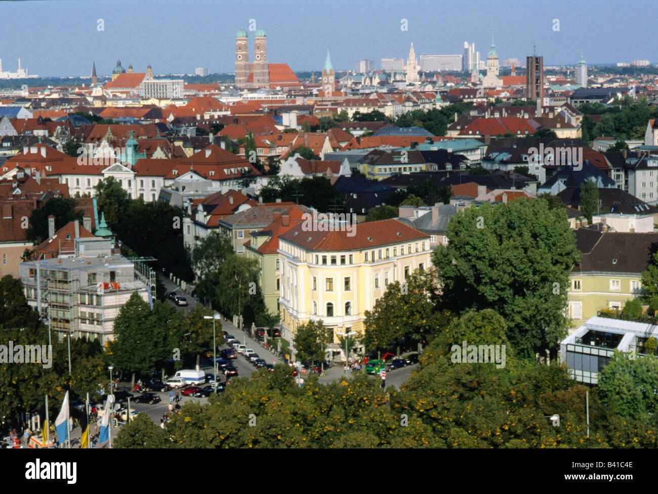 geography / travel, Germany, Bavarians, Munich, churches, church of our lady, St Mary, cathedral, towers - Stock Image