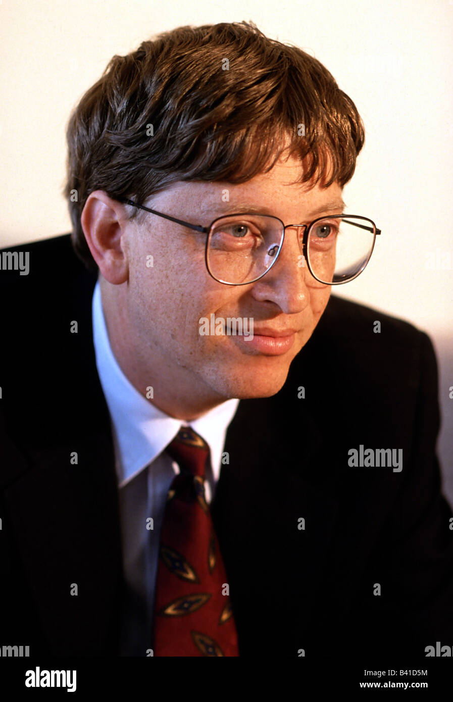 Gates, William, 'Bill', * 28.10.1955, American entrepreneur, (computing), co-founder, of Microsoft, Portrait, - Stock Image