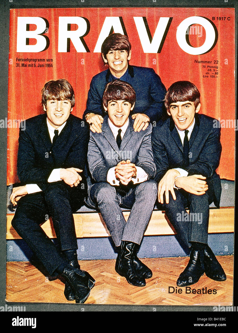 press / media, journals / magazines, Bravo, No. 22, cover, May / June, issue, 1964, The Beatles, 1960s, 60s, journal, - Stock Image