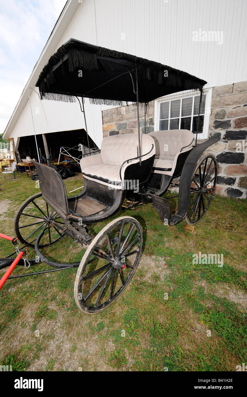 Old horse drawn carriage - Stock Image