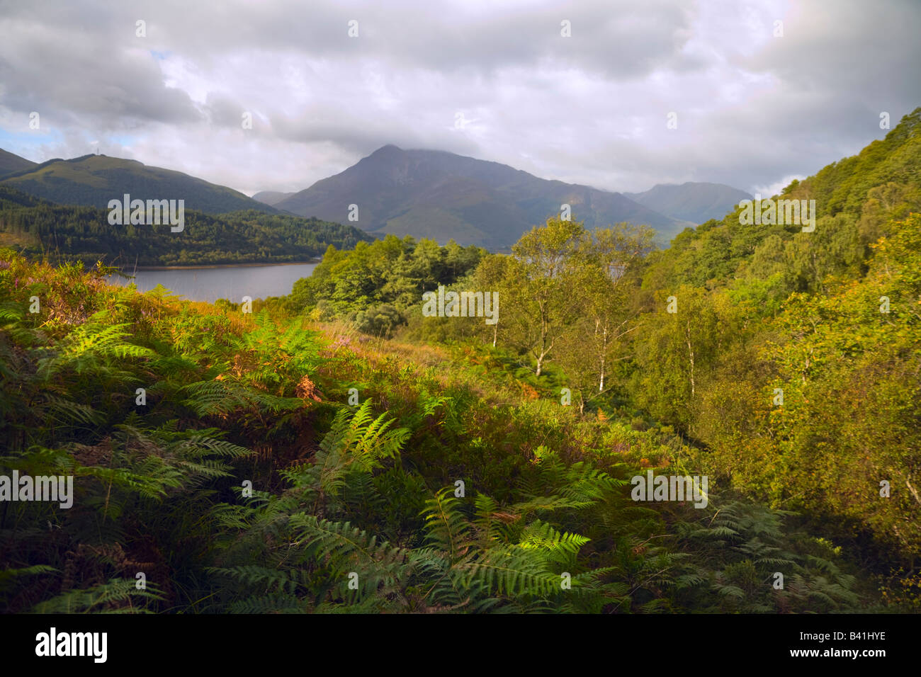 Loch Leven viewed from above North Ballachulish - Stock Image