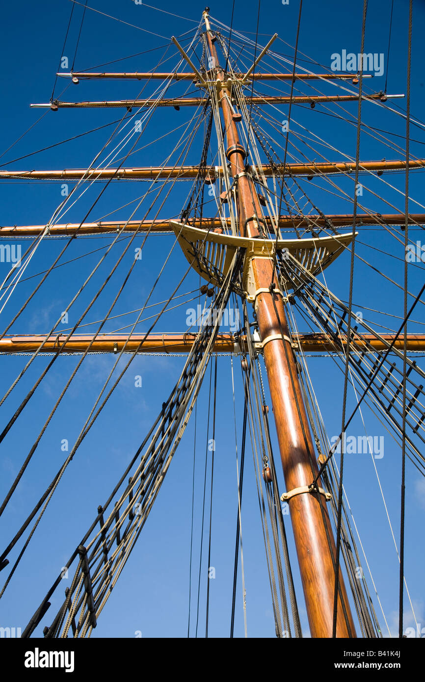 RRS Captain Scott's Arctic explorer vessel at Discovery Point, Dundee, Tayside, Scotland, UK - Stock Image