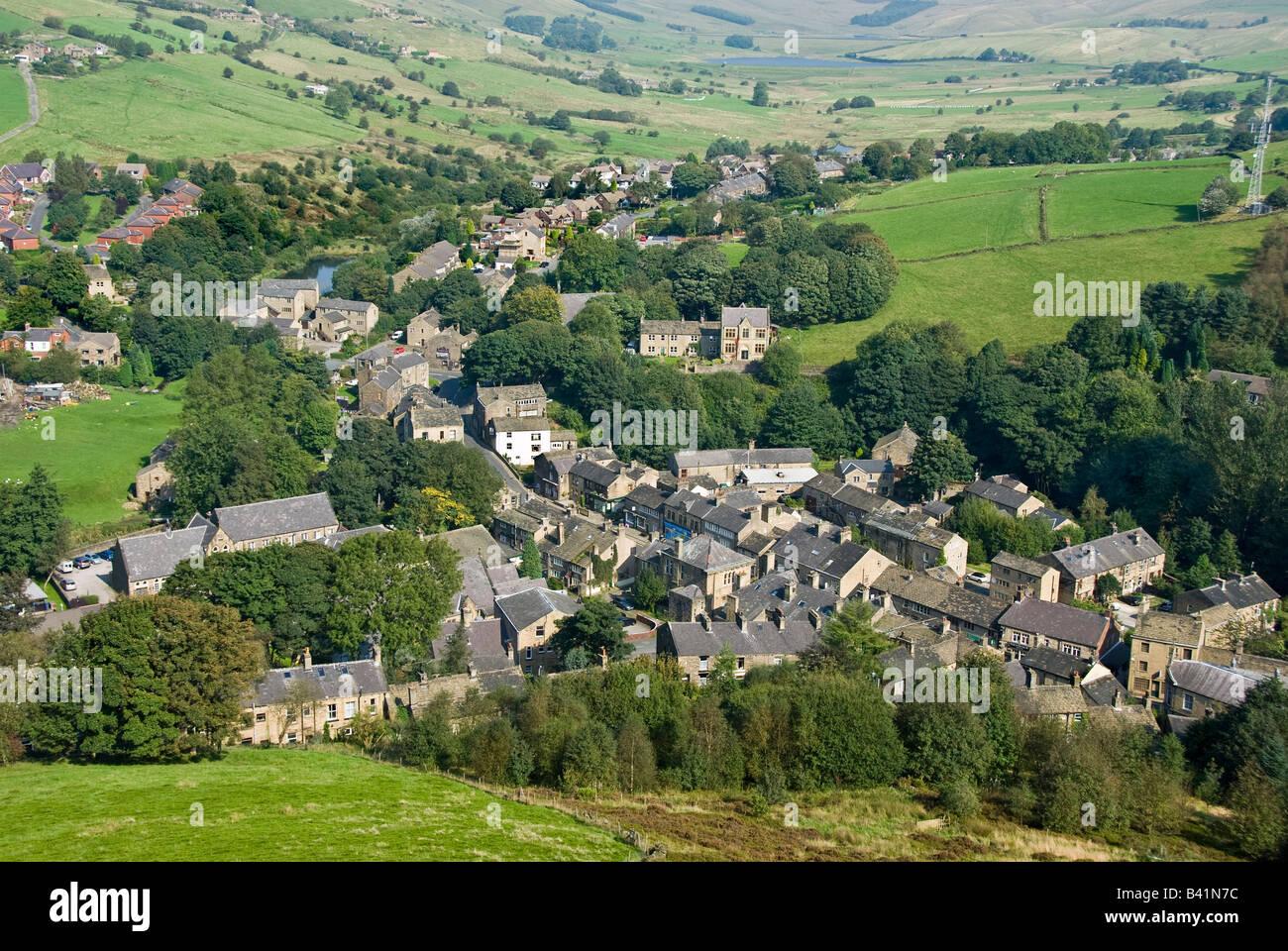 Delph Village, - Stock Image