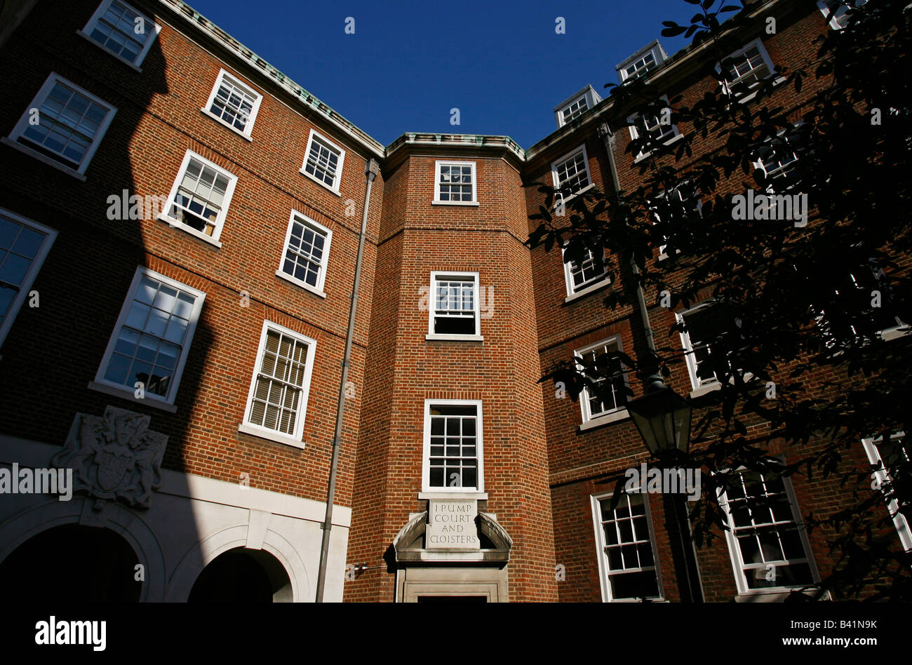 1 Pump Court and Cloisters London England UK - Stock Image