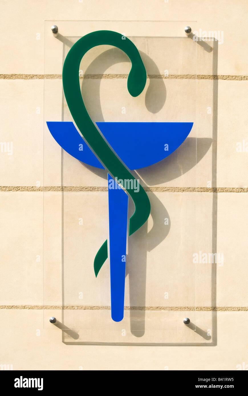 Pharmacie / Chemist's shop sign,  France. - Stock Image