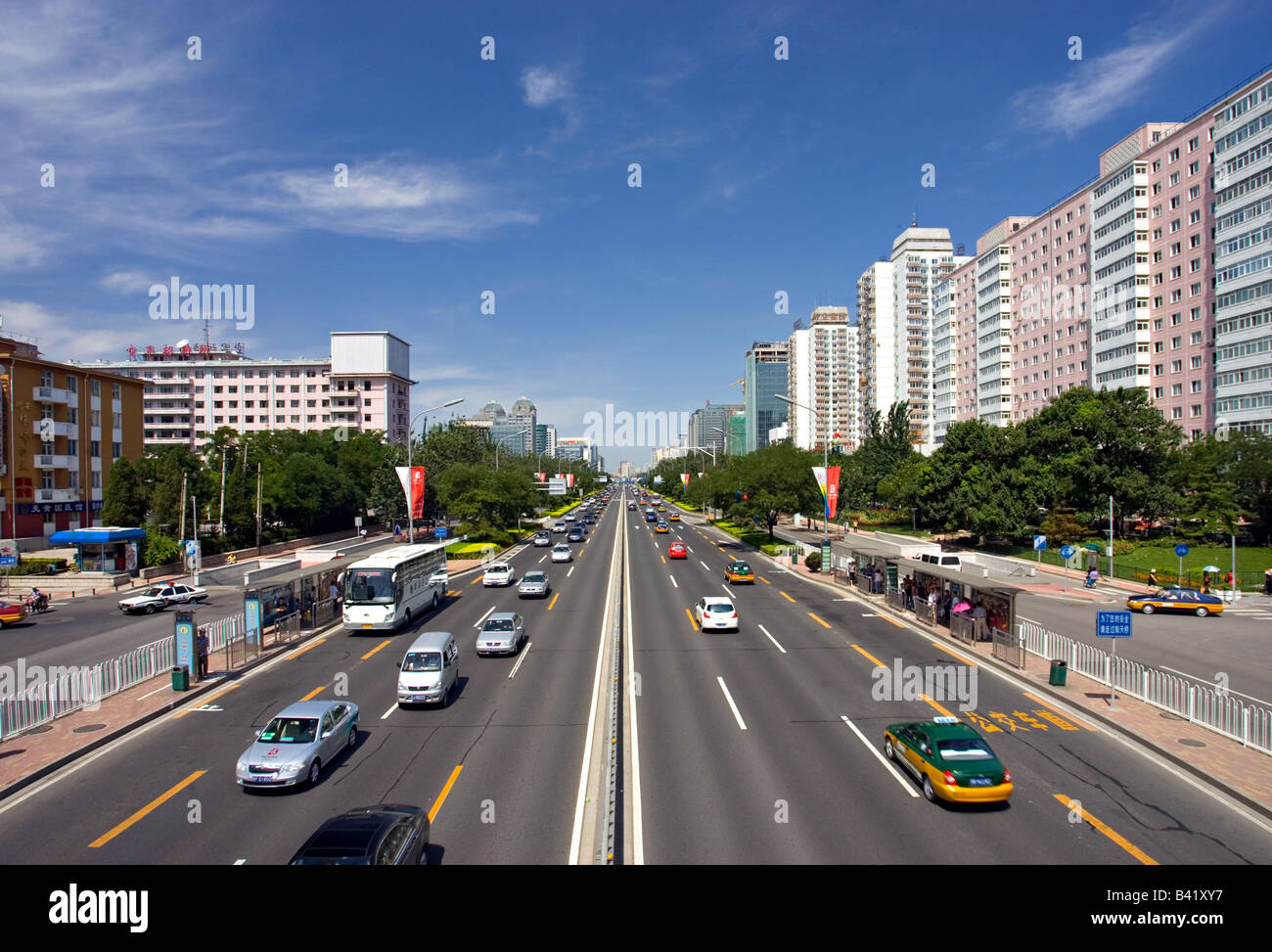 Peking Traffic - Stock Image