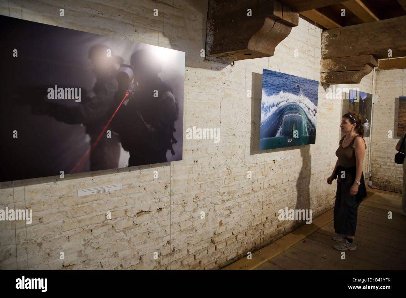 Visa Pour l'Image Exhibition Ziv Koren in Perpignan France - Stock Image