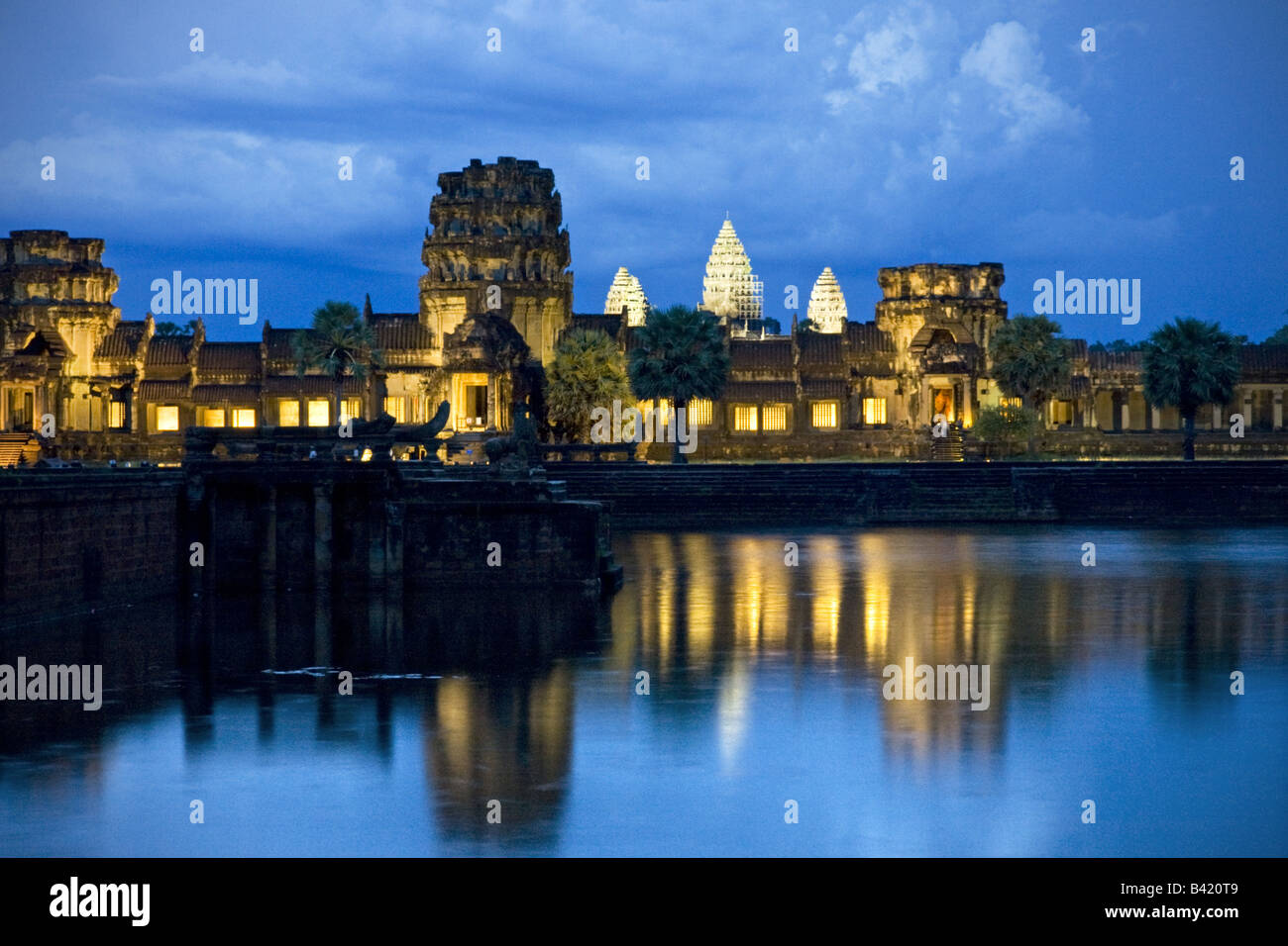 Temple of Angkor wat Cambodia - Stock Image