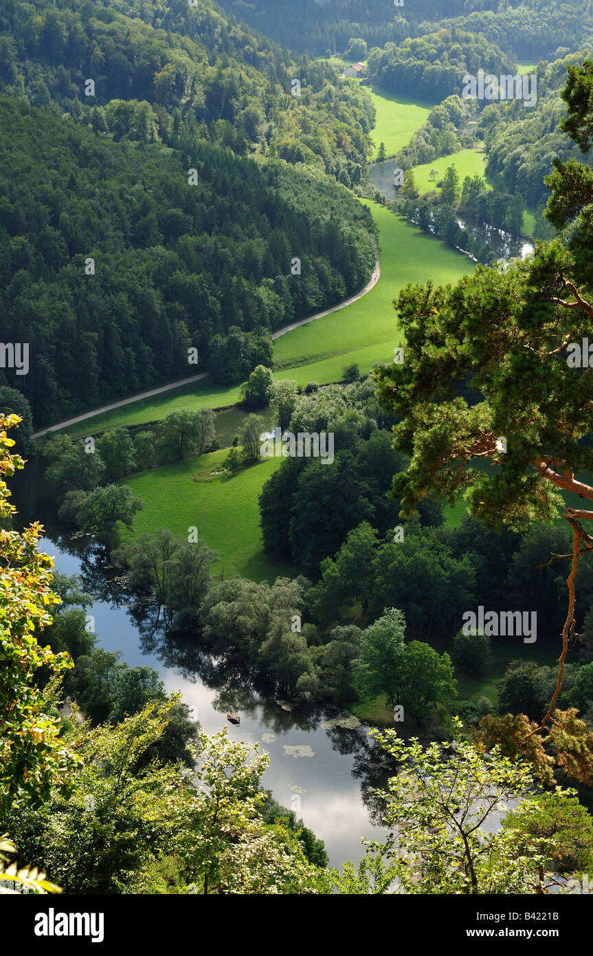 Donautal (Danube valley), Naturpark (nature reserve) Obere Donau, Schwäbische Alb, Donaubergland, Baden-Württemberg, Stock Photo