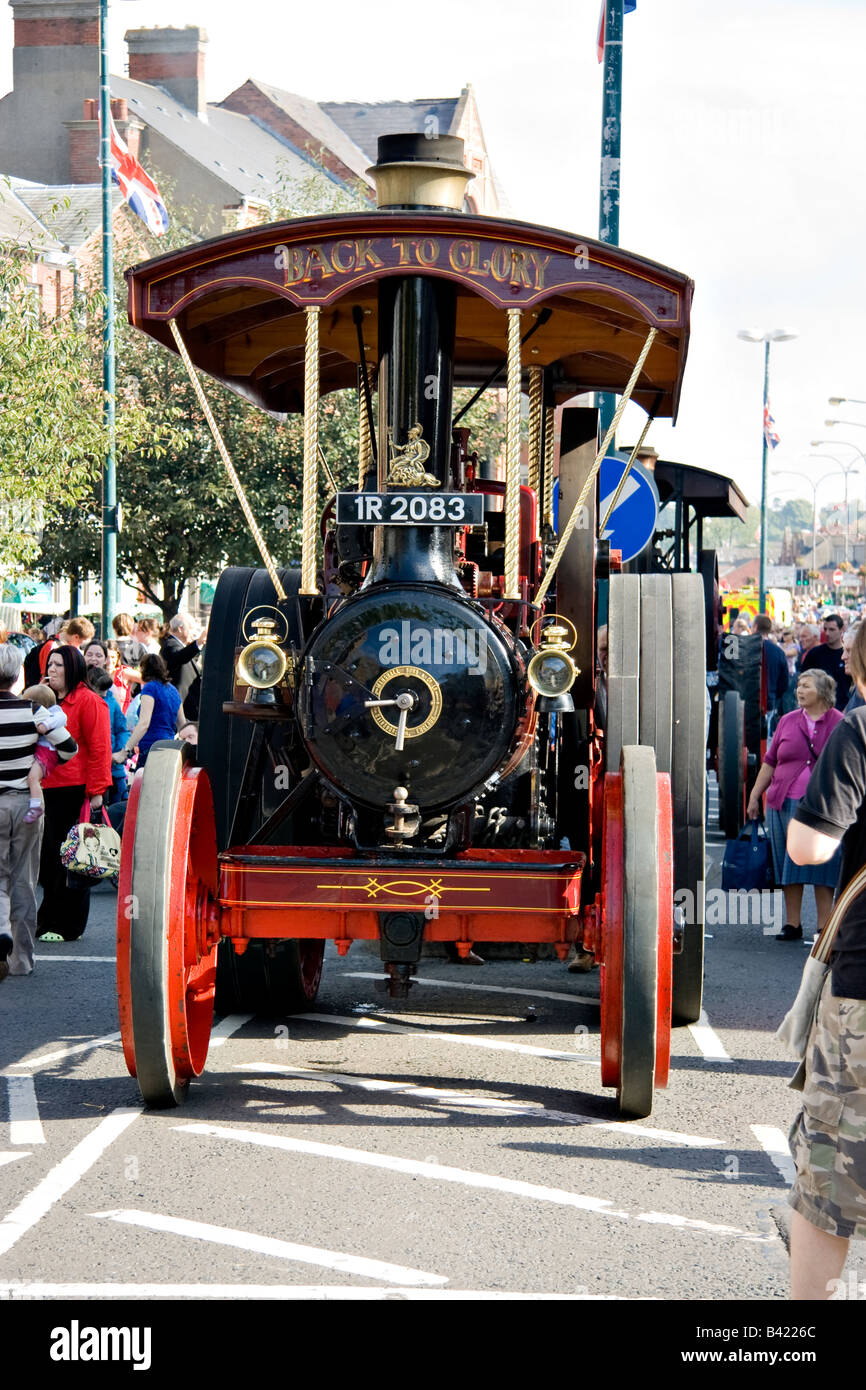 The 'Back to Glory' Steam traction engine at a town fair - Stock Image