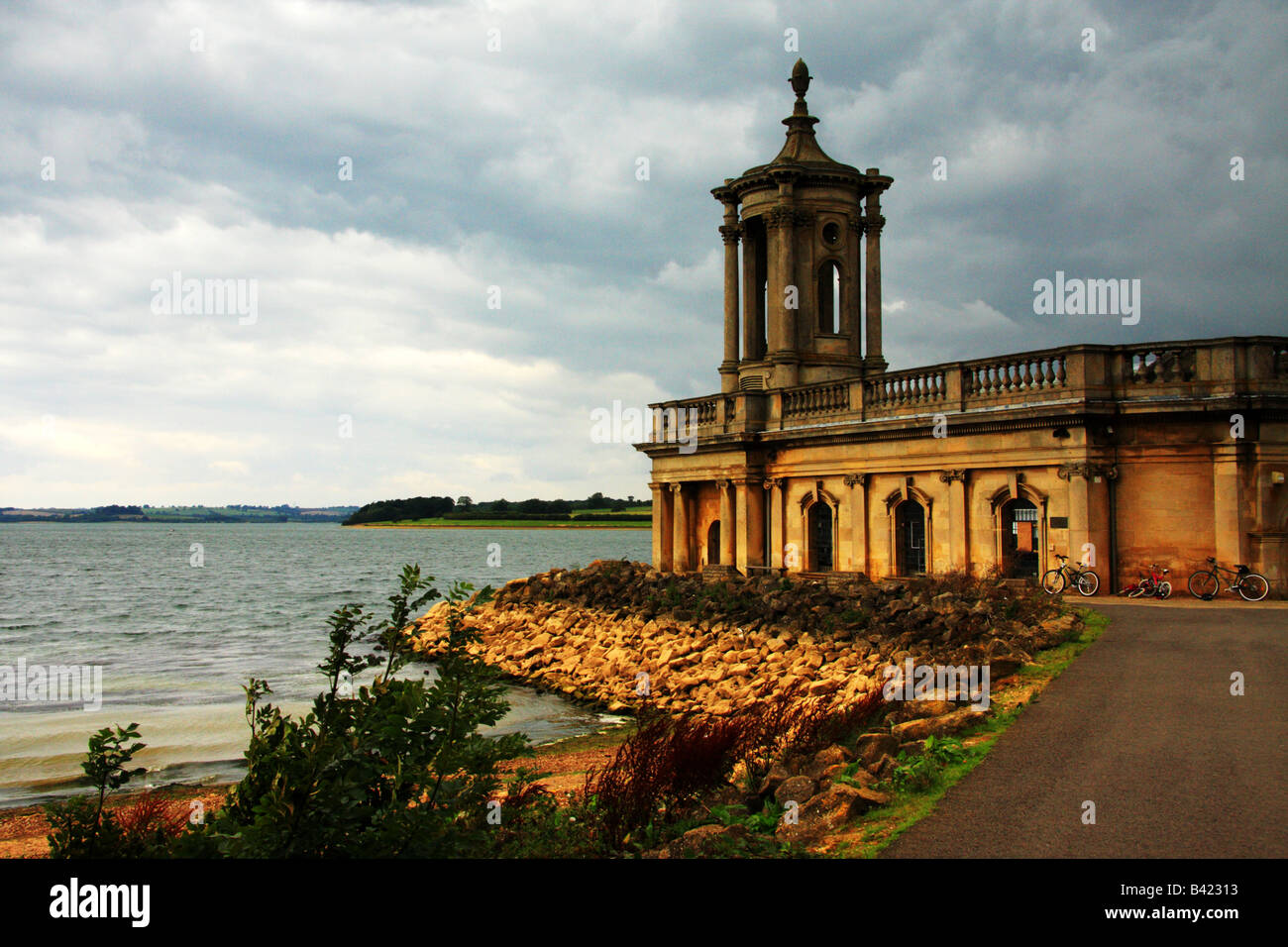 Rutland Water Museum on Rutland Water,Leicestershire - Stock Image