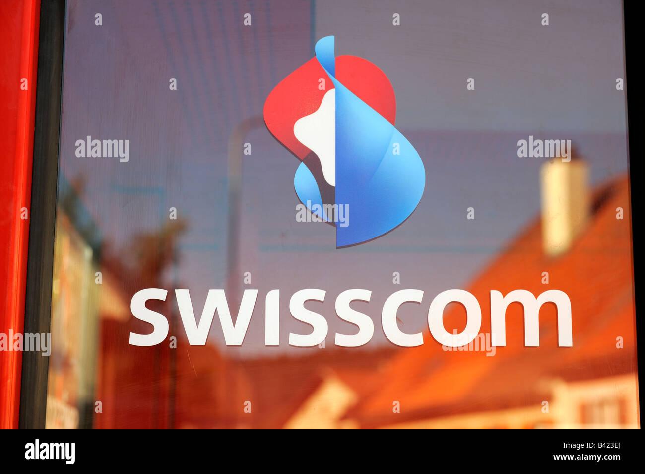 Swisscom Telephonetbooth in La Brevine, Switzerland - Stock Image