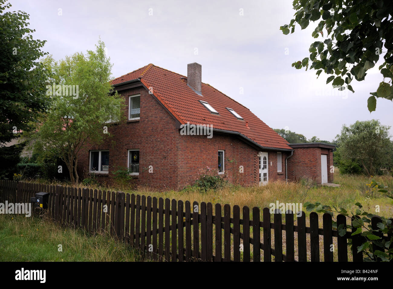 a house to be put up for compulsory sale in Mecklenburg-Western Pomerania, germany. Stock Photo