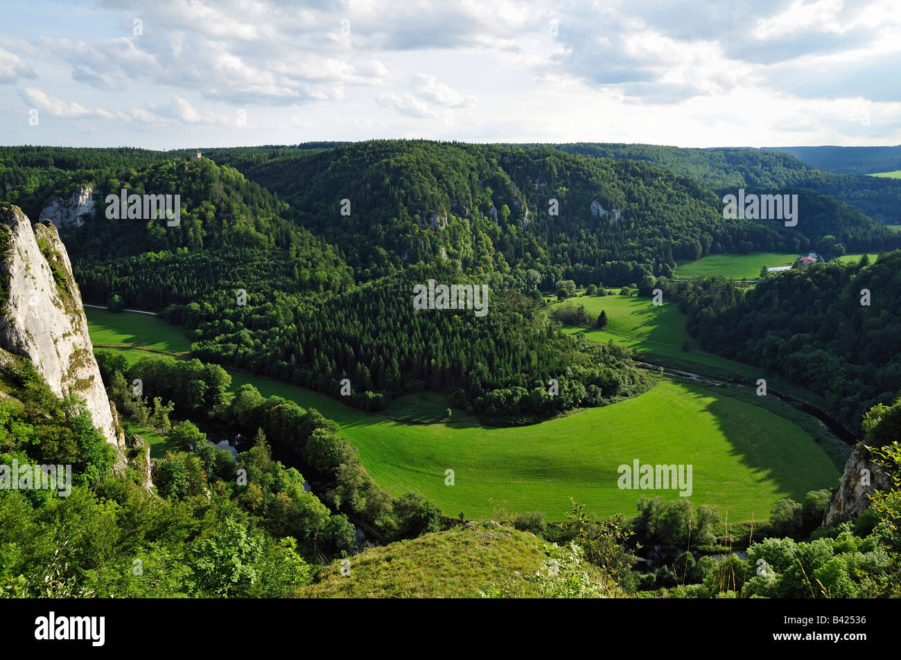 Donautal (Danube valley), Naturpark (natural park) Obere Donau, Schwäbische Alb, Donaubergland, Baden-Württemberg, Stock Photo