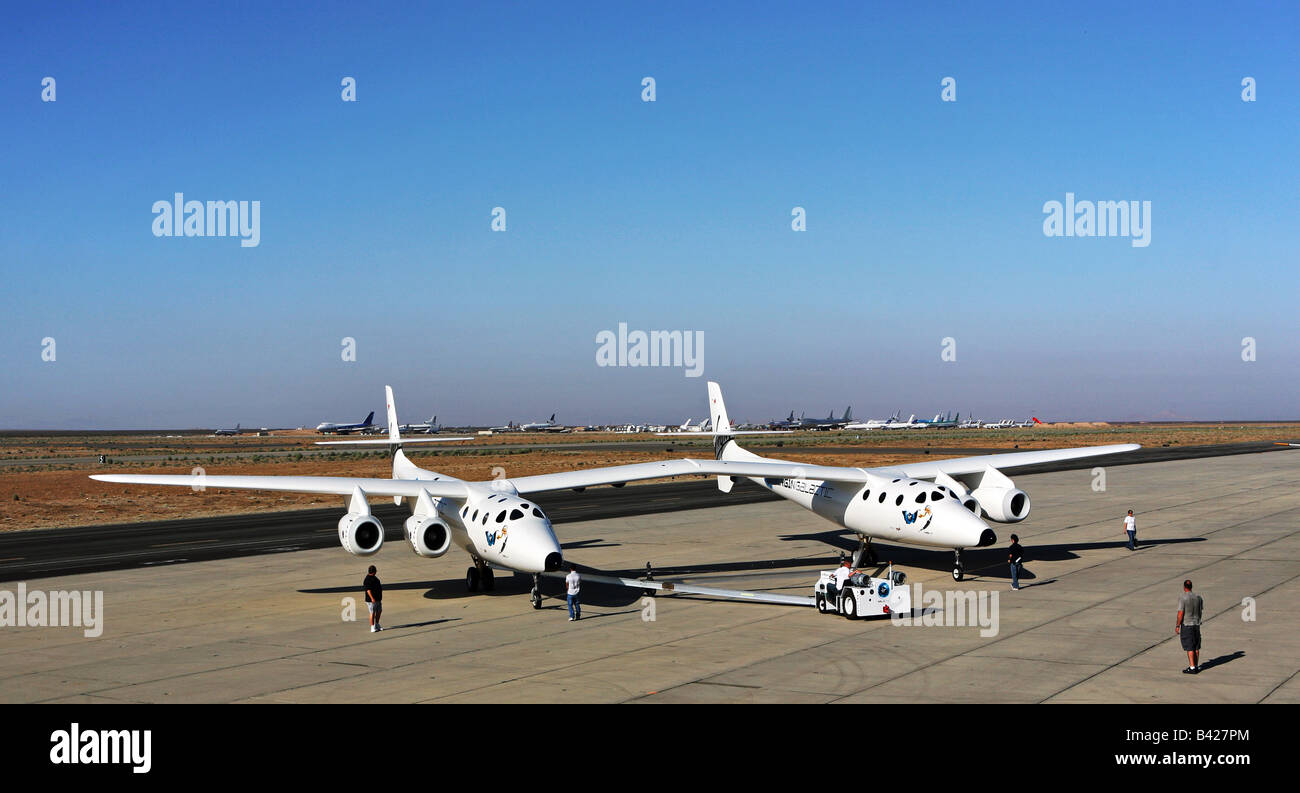 Virgin Galactic White Knight Two Rollout Mojave, California - Stock Image