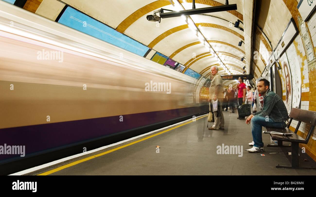 Underground, Covent Garden Station, London, England - Stock Image