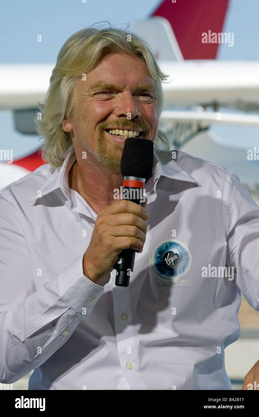 Sir Richard Branson Virgin Galactic White Knight Two Rollout - Stock Image