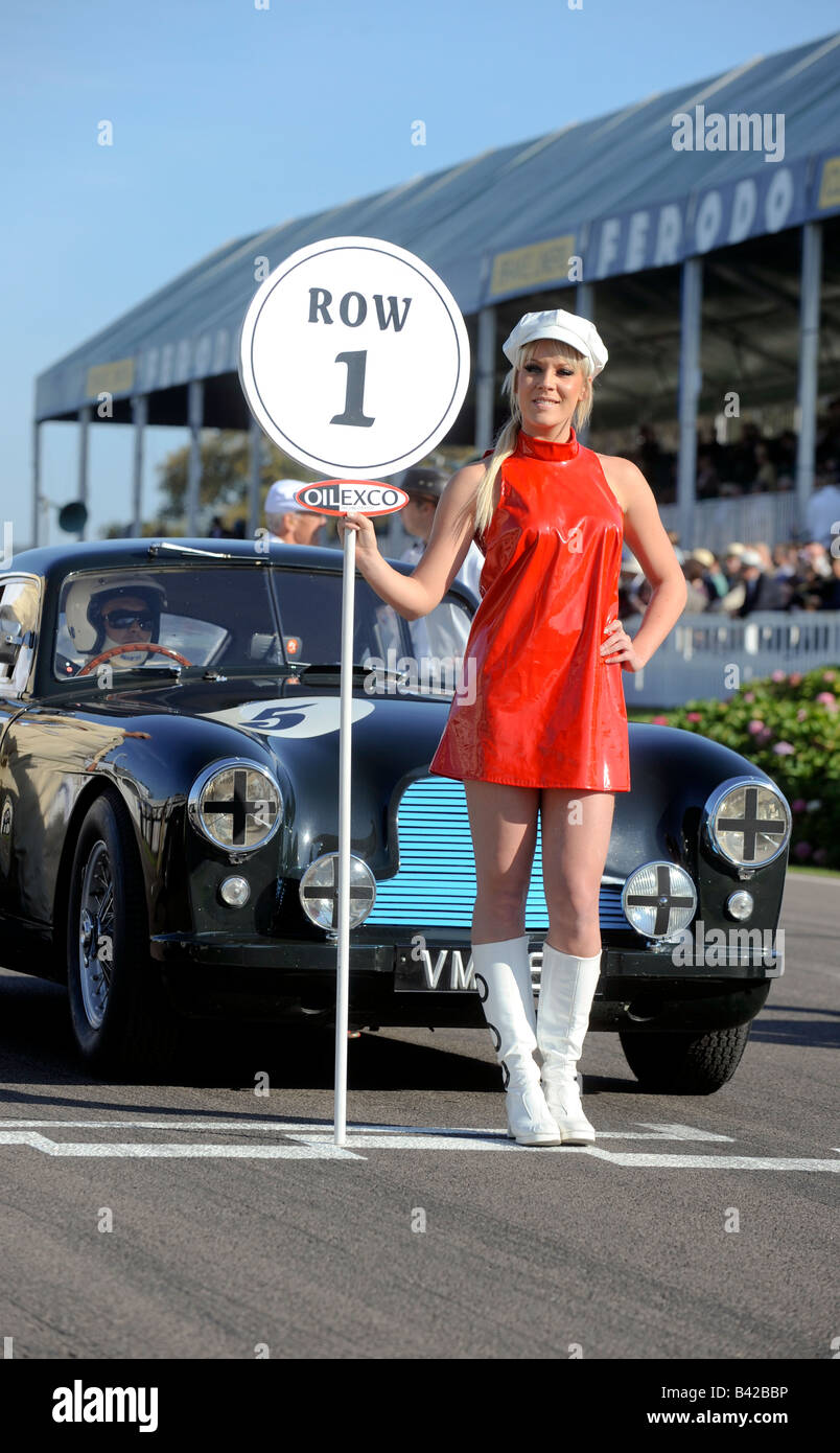 Goodwood Revival 2008: Competitors take their places on the start line. Picture by Jim Holden Stock Photo