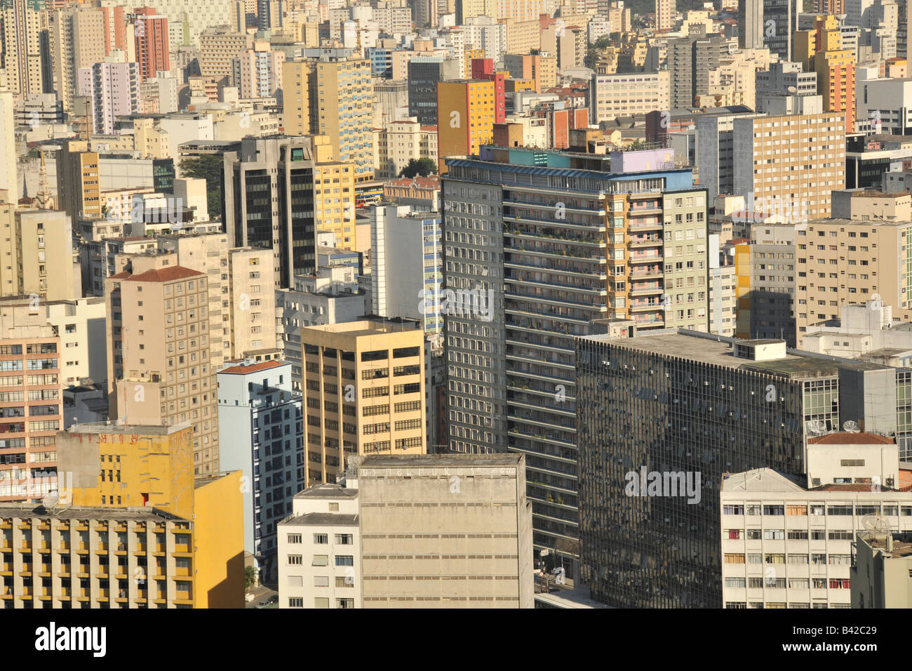 Sao Paulo view from the rooftop of Italia Building Brazil Stock Photo