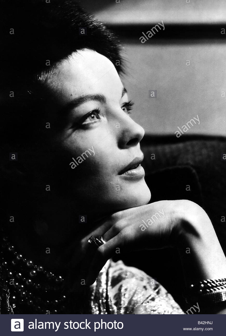 Schneider, Romy, 23.9.1938 - 29.5.1982, German actress, portrait, from the movie 'Fire and Ice' (Der Kampf - Stock Image