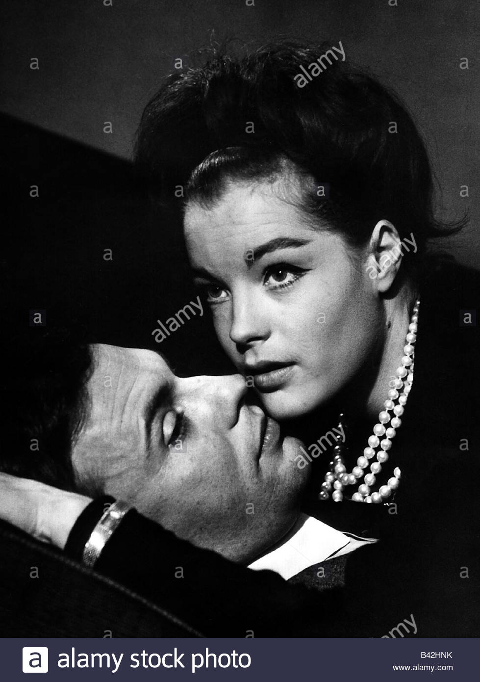 Schneider, Romy, 23.9.1938 - 29.5.1982, German actress, portrait, with Jean-Louis Trintignant, from the movie 'Fire - Stock Image