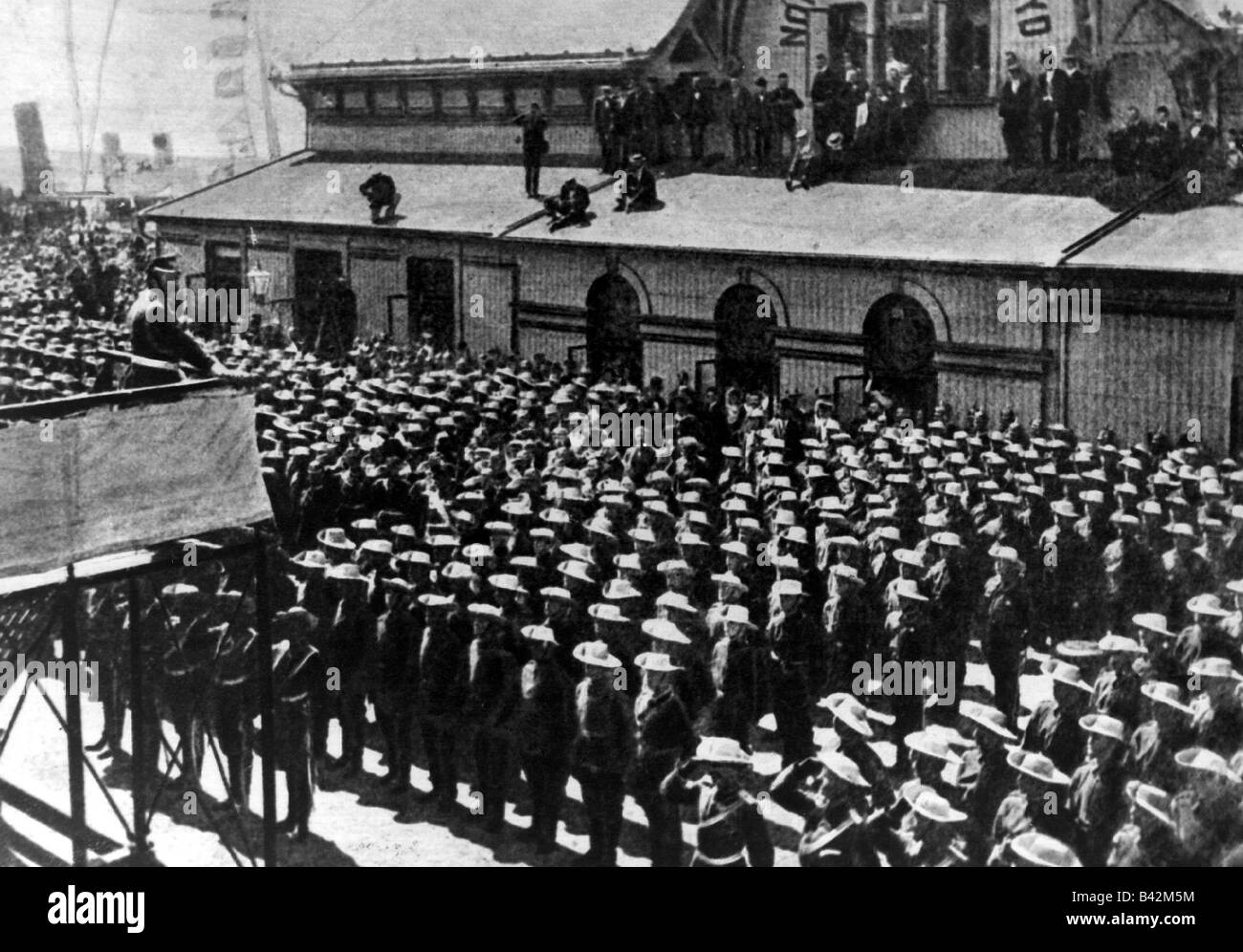 geography / travel, China, Boxer Rebellion 1900, Emperor William II is saying goodbye to the German troops, Bremerhaven, - Stock Image