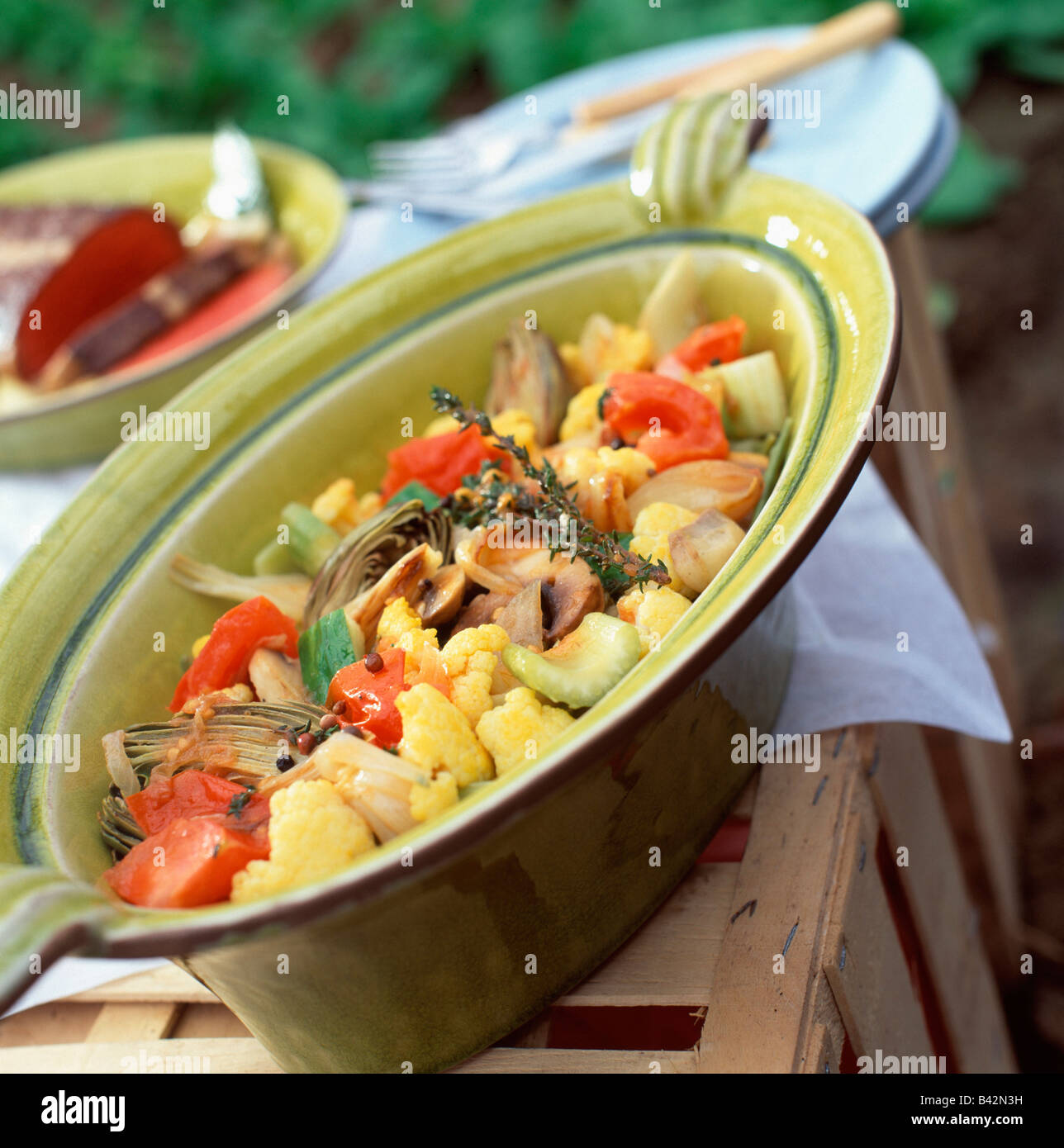 Jardiniere Of Young Vegetables Stock Photo 19729461 Alamy