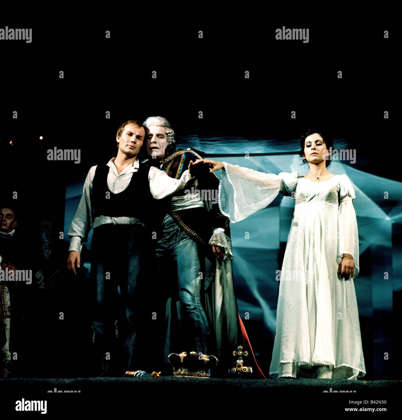 Brandauer, Klaus Maria, * 22.6.1944, Austrian actor, full length, with Romuald Pekny and Marianne Nentwich, in the Stock Photo