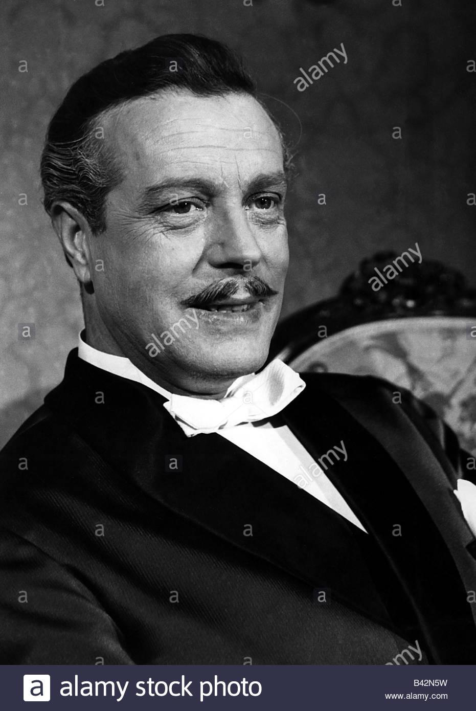 Albach-Retty, Wolf, 28.5.1906 - 21.2.1967, German actor, portrait, movie scene from 'K. und K. Feldmarschall', - Stock Image