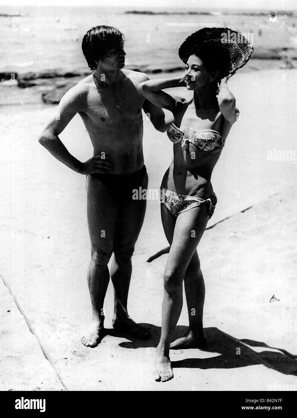 Fonteyn, Margot, 16.5.1919 - 21.2.1991, British actress, with Rudolf Nureyev, holiday, Beirut, Lebanon, 1960s, 60s, - Stock Image