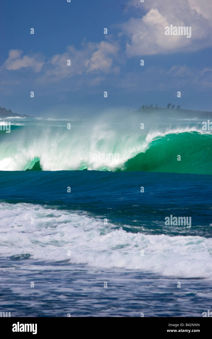 Waves at Beach Micronesia Mariana Islands Pacific Ocean Guam - Stock Image