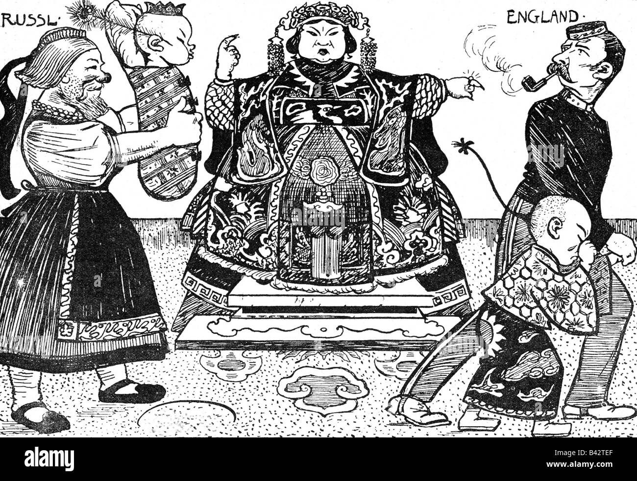 Cixi, 29.11.1835 - 15.11.1908, Empress Dowager of China 22.8.1861 - 15.11.1908, deposing Emperor Guangxu, 1898, - Stock Image