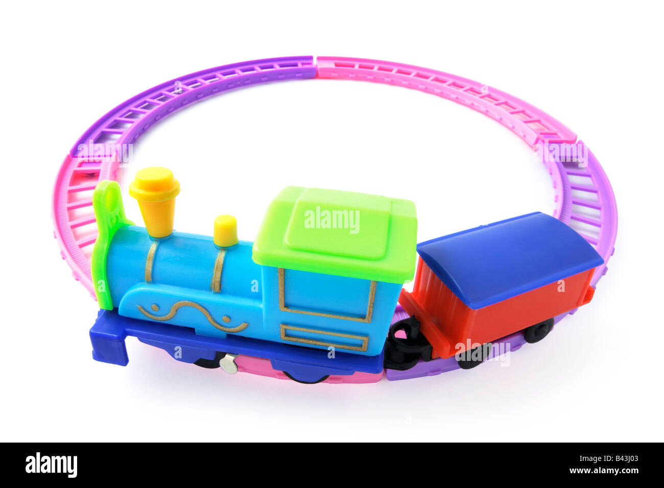 Toy Train on Railway Track - Stock Image