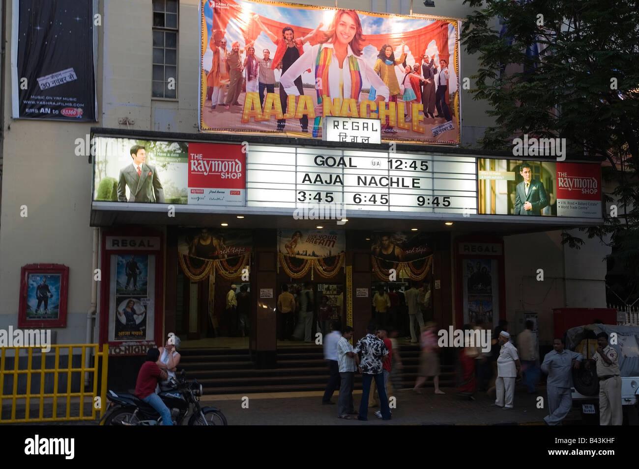 India Bombay Mumbai iconic cinema Regal Colaba 2008 - Stock Image