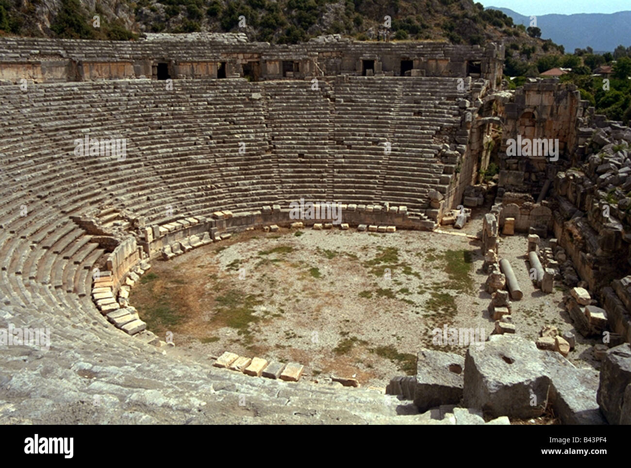 geography / travel, Turkey, Myra, theatre, antiquity, , Additional-Rights-Clearance-Info-Not-Available - Stock Image