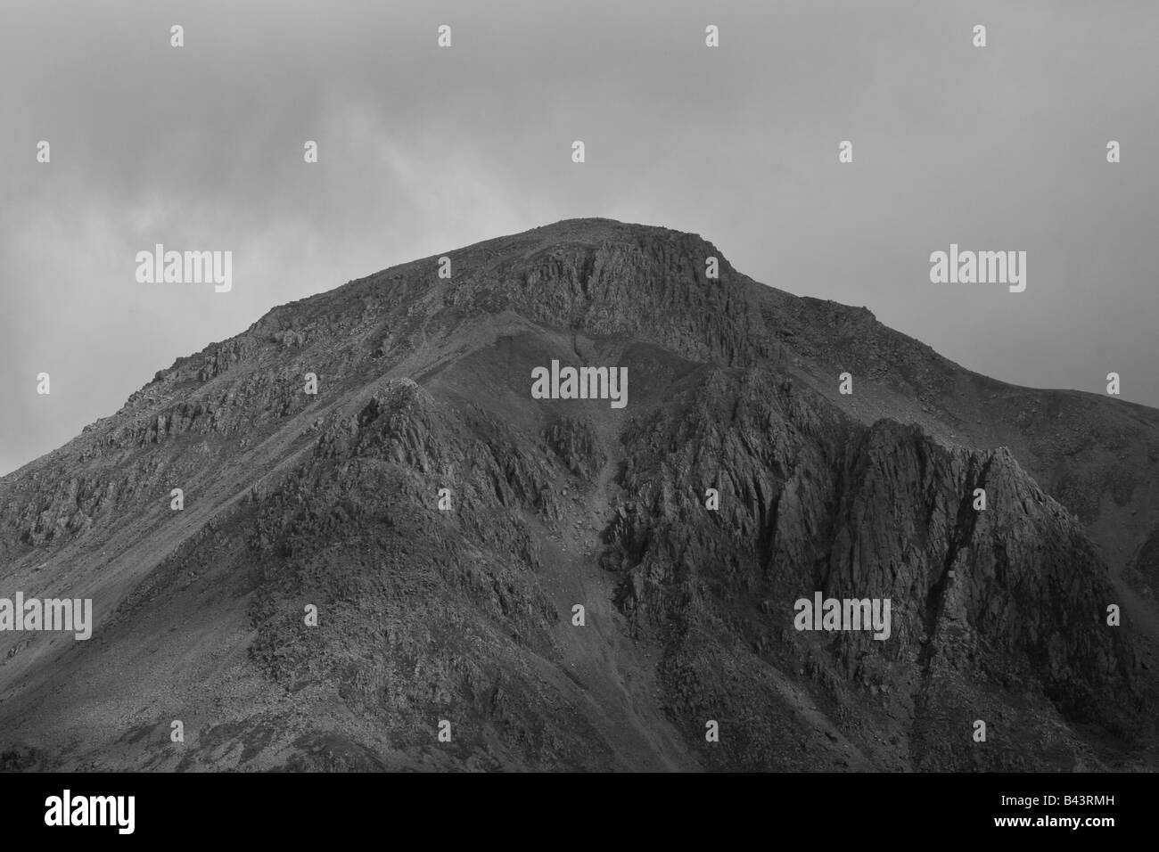 White Napes and Great Napes on Great Gable, Lake District National Park, Cumbria - Stock Image