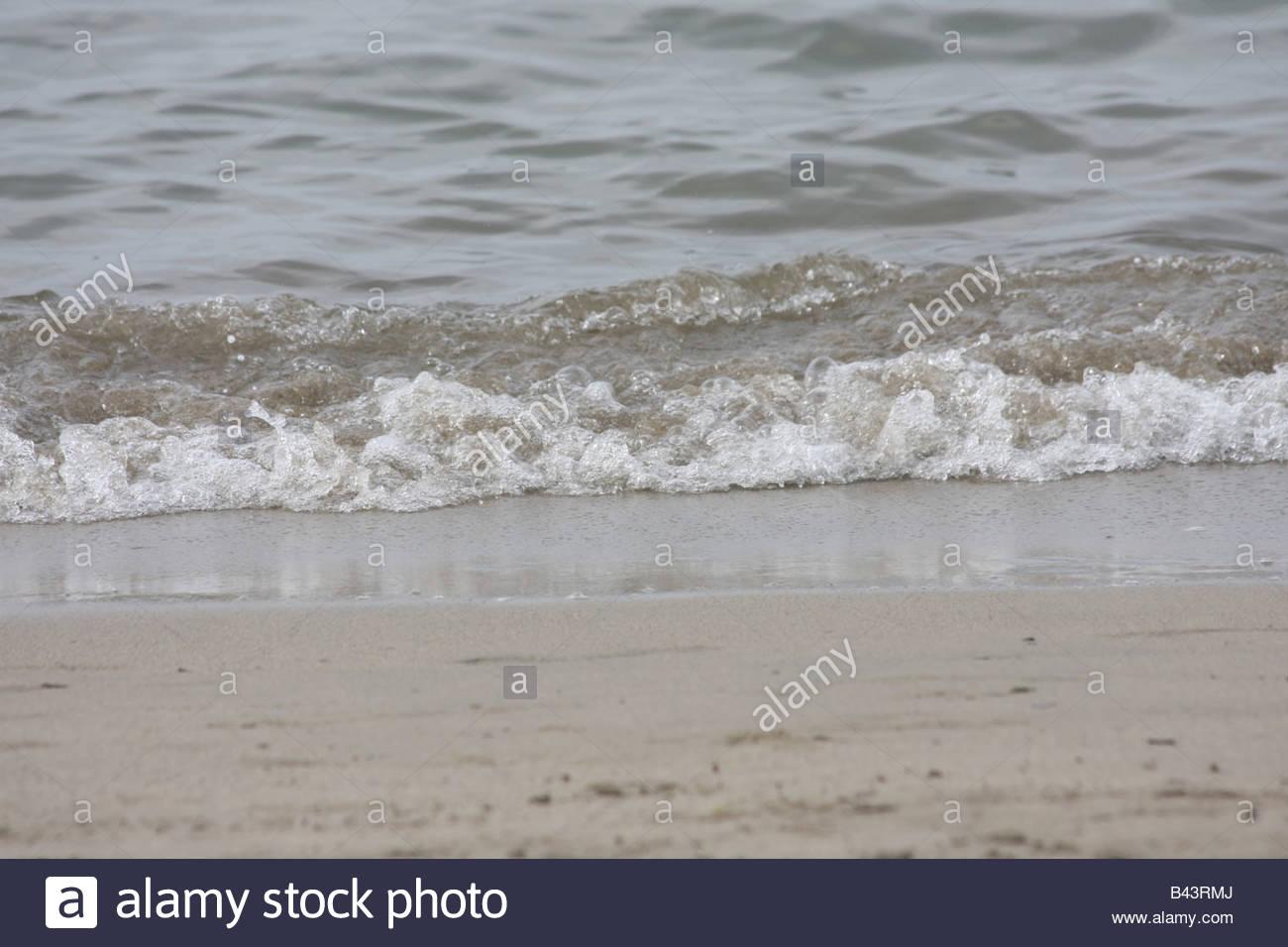 Gentle waves of the Mediterranean sea. - Stock Image