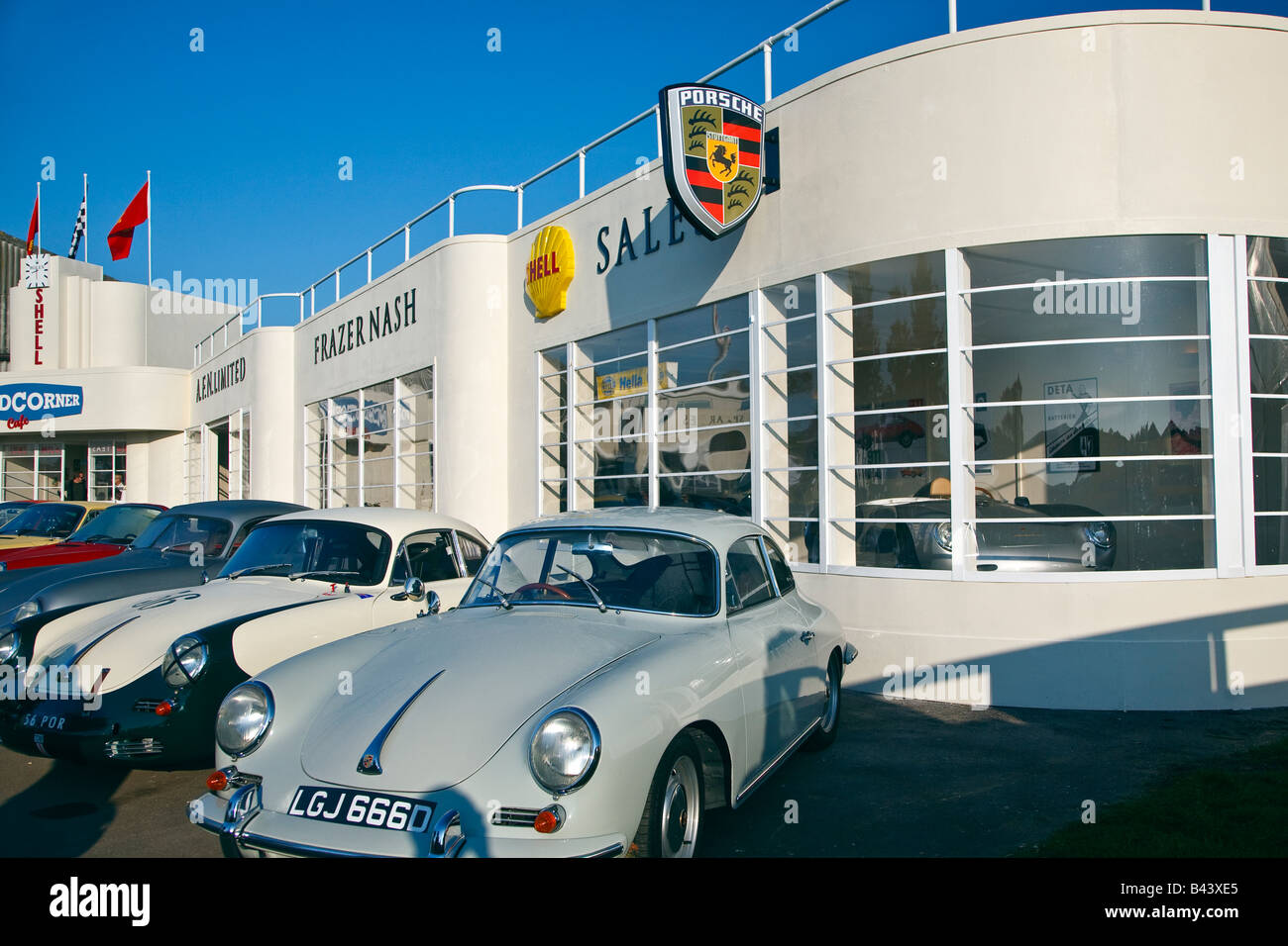 Art Deco style of the Woad Corner car sales showroom of 1940s Stock ...