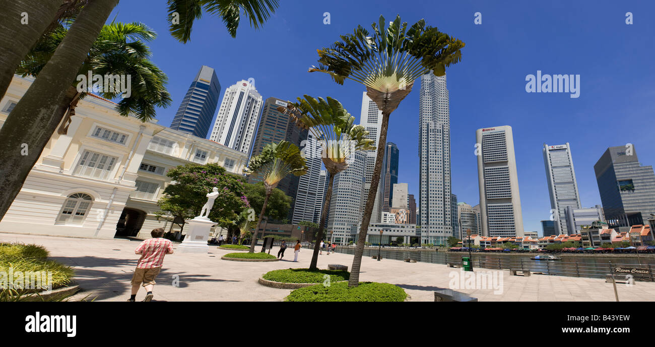 Asia Singapore Singapore Skyline Financial district - Stock Image