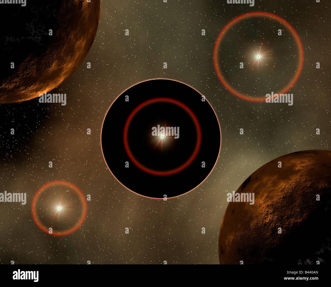 Conceptual Black Hole - Stock Image