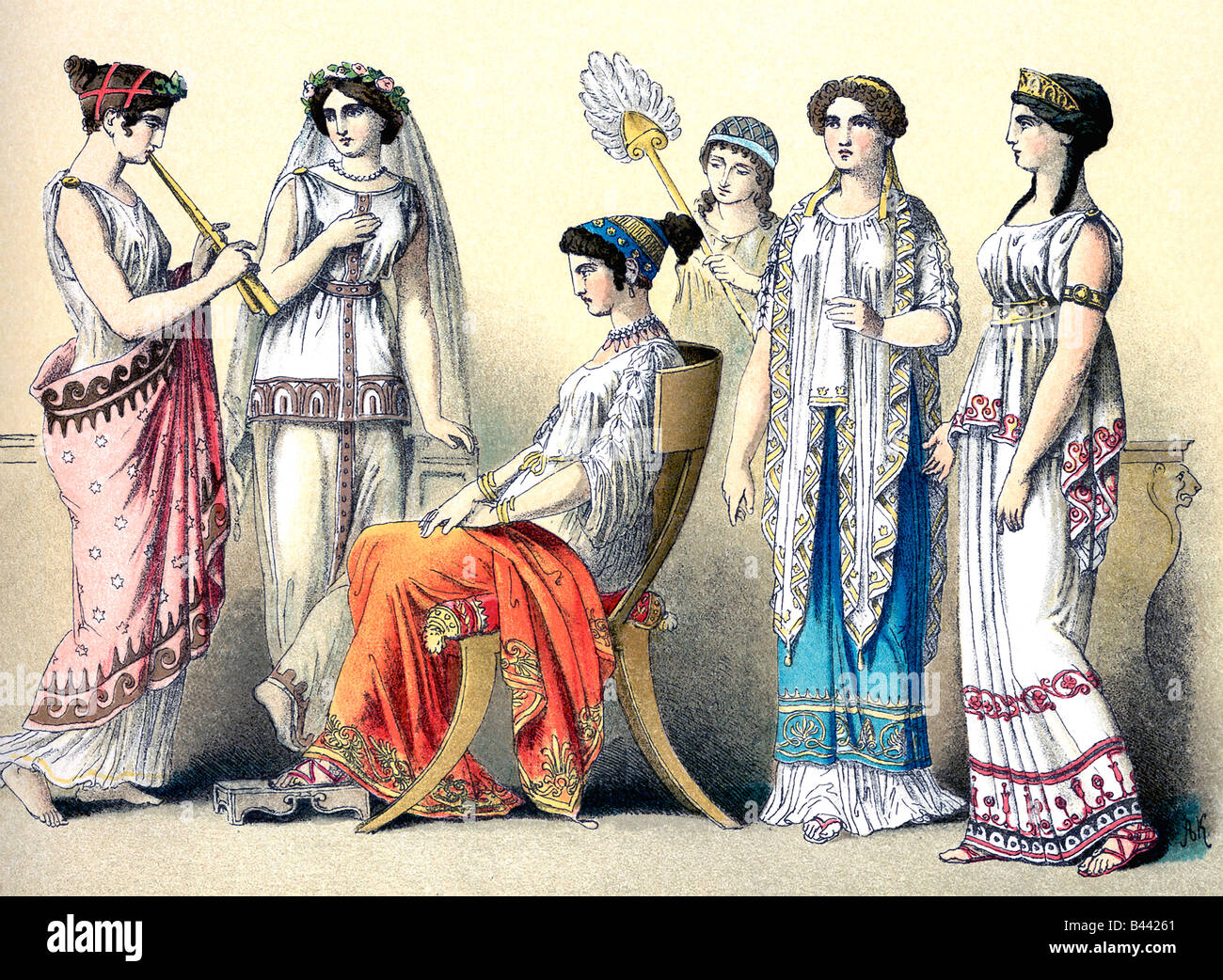 Ancient Greek Women - Stock Image