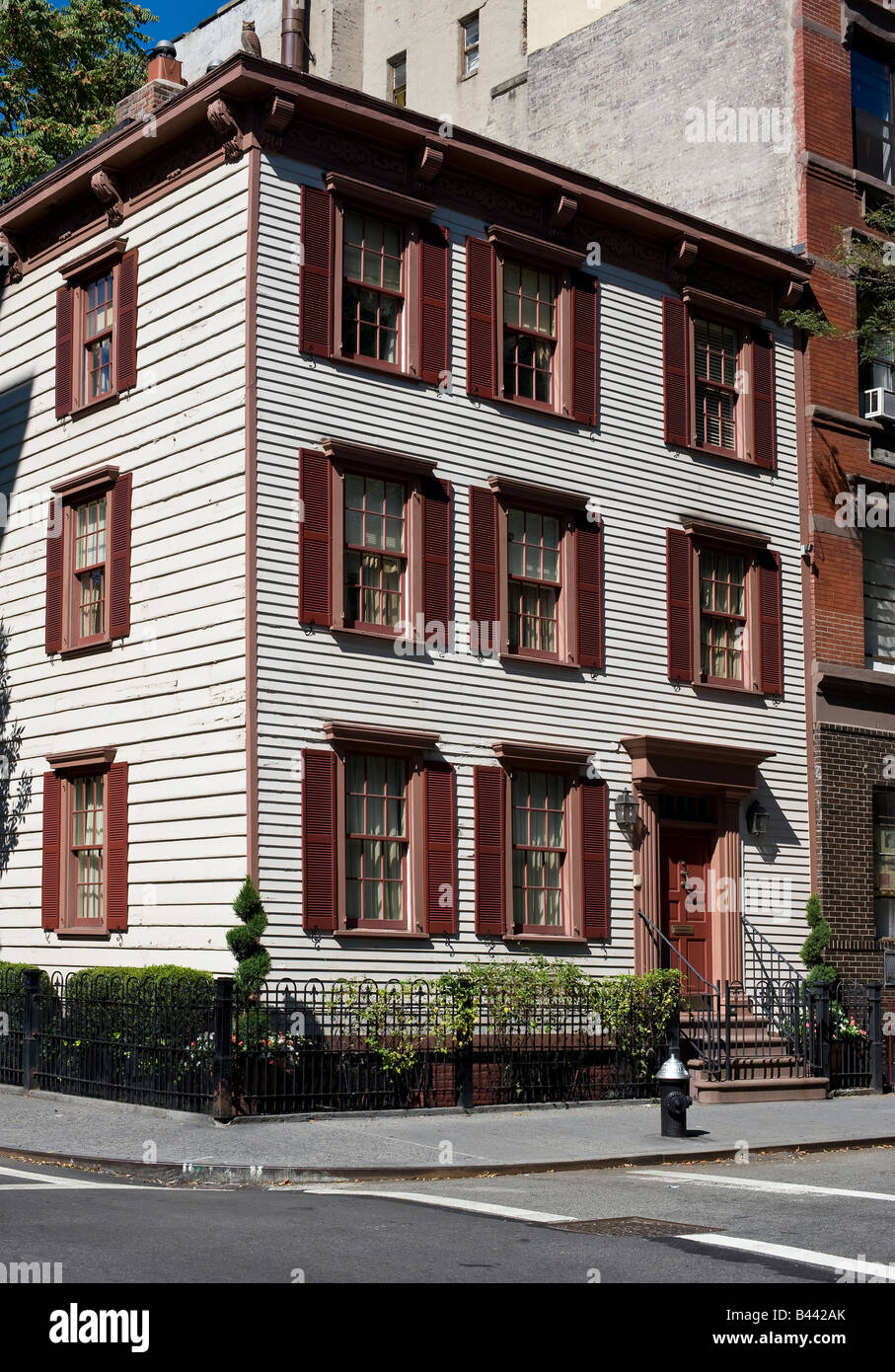 William Hyde house at Bedford Street, Greenwich Village, New York City Stock Photo