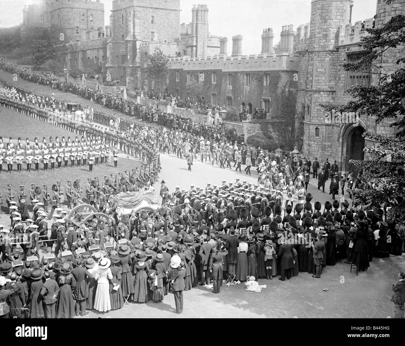 King Edward VII May 1910 Funeral Procession Edward VII was born on November 9 1841 the eldest son of Queen Victoria - Stock Image
