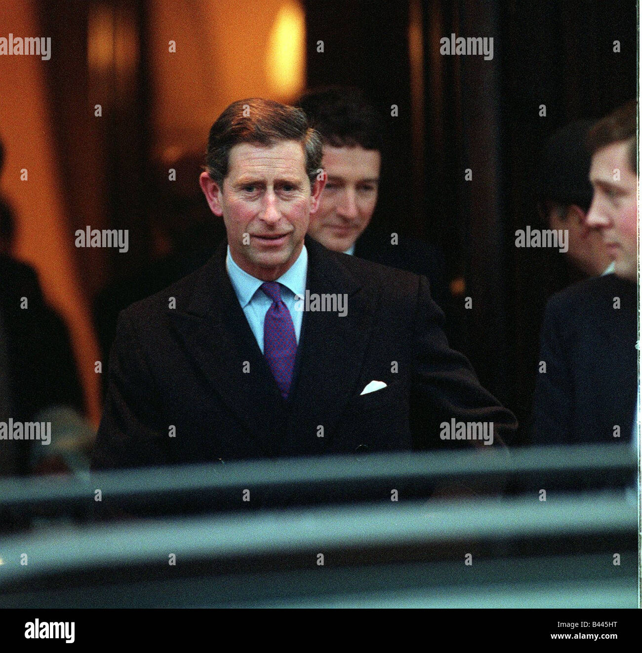 Prince Charles leaving the Lanesborough Hotel in London December 1995 - Stock Image