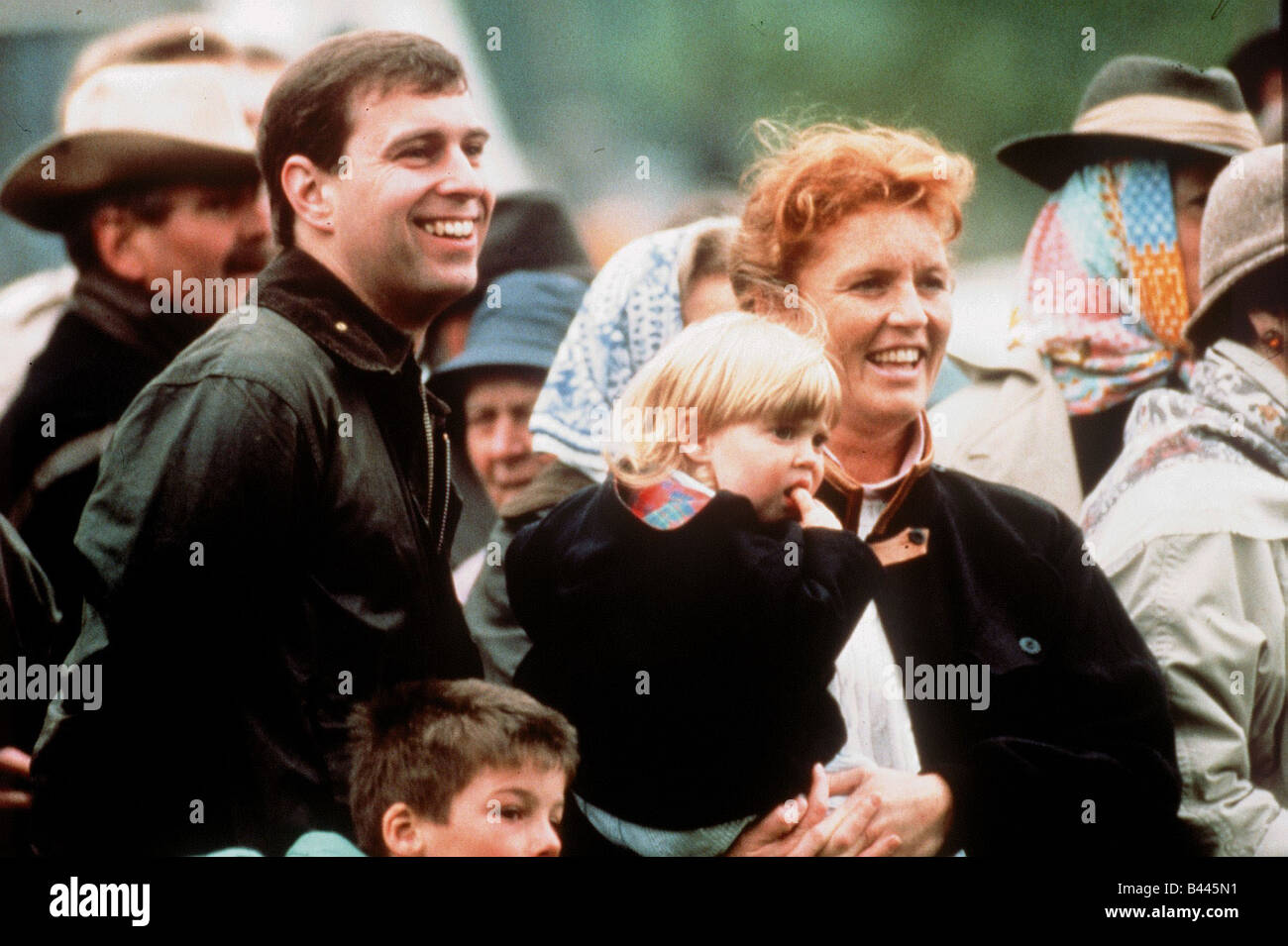 Prince Andrew With Fergie And Their Daughter Princess Beatrice
