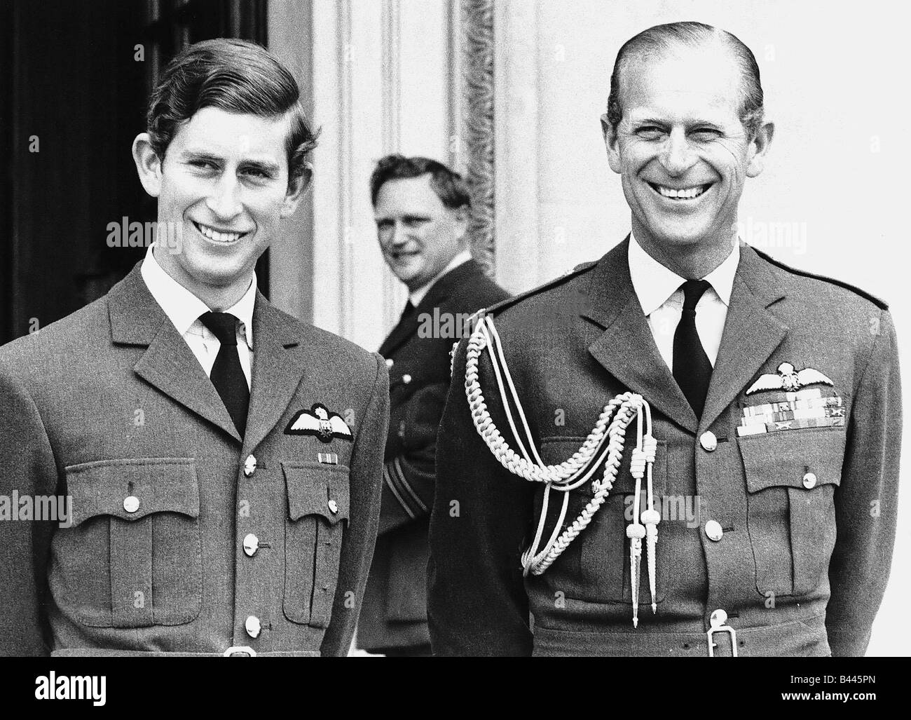 The Prince Of Wales With His Father Stock Photos & The