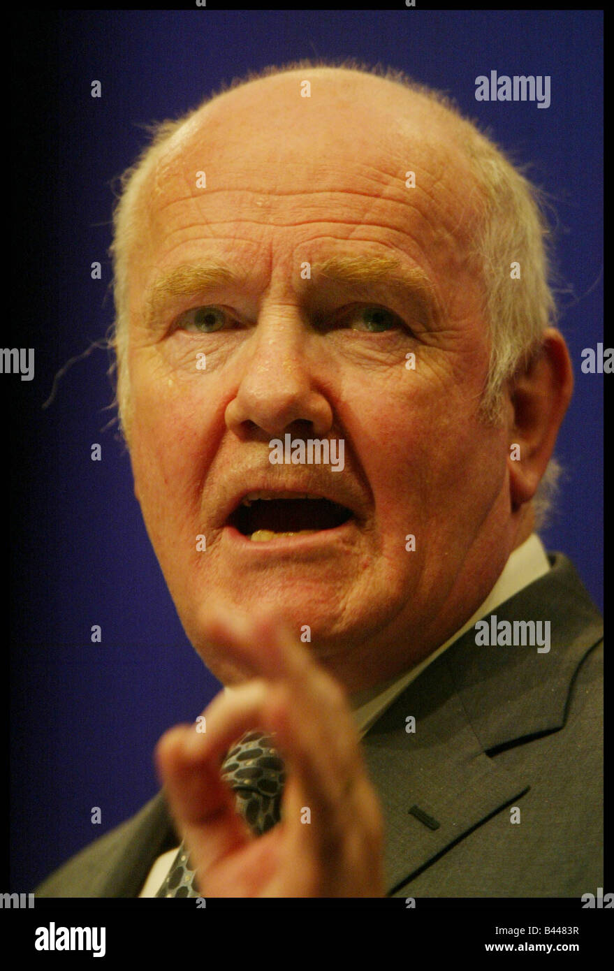 Labour s Health Secretary John Reid at the Labour Party Conference in Bournemouth October 2003 - Stock Image
