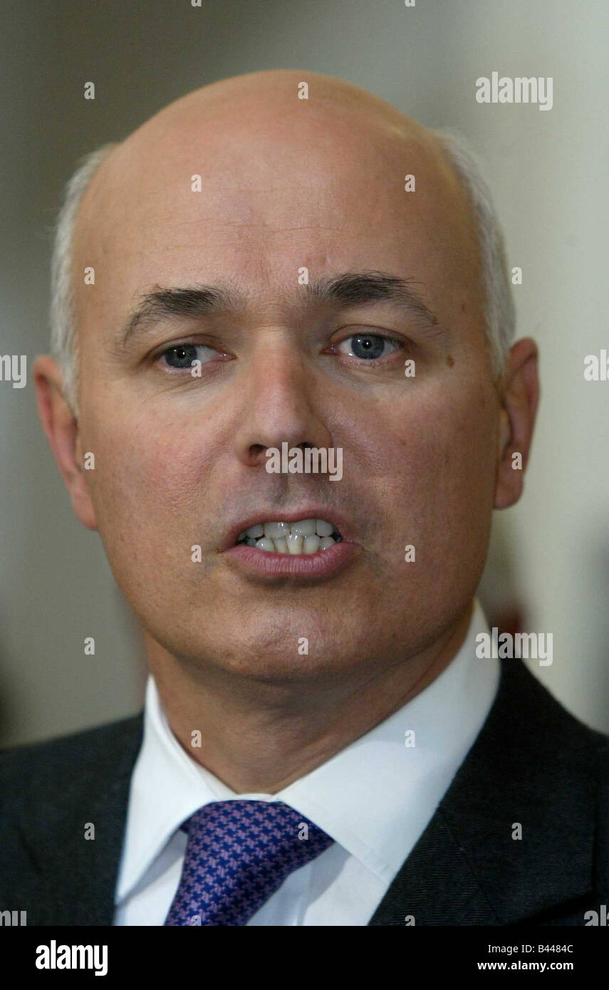 Iain Duncan Smith at a Community Centre in Blackpool October 2003 - Stock Image