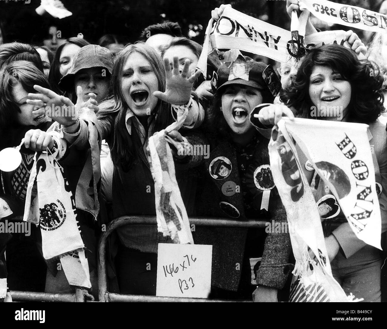 Fans of the Pop Group at The Osmonds Pop Concert May 1975 - Stock Image